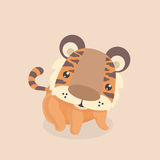 Petit tigre mignon Photo libre de droits