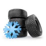 Petit Toy Winter Studded Tires Set illustration de vecteur