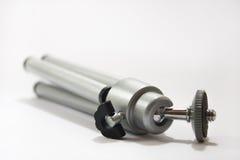 Petit trépied d'appareil-photo d'aluminimum dans la vue étroite Photographie stock