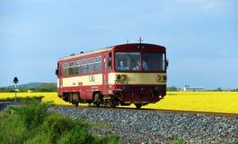 Petit train tchèque dans la région de Kanina Images stock