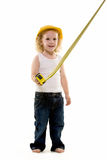 Petit travailleur de la construction photographie stock