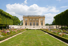Petit Trianon of Versailles Palace Park. The Petit Trianon is a small chateau located on the grounds of the Palace of Versailles in Paris, France.The small Royalty Free Stock Images