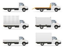 Petit truck van lorry pour le transport des marchandises VE courant de cargaison illustration stock
