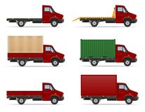 Petit truck van lorry pour le transport des marchandises VE courant de cargaison illustration de vecteur