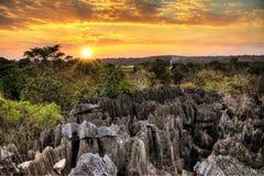 Petit Tsingy sunset Royalty Free Stock Photos