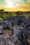 Petit Tsingy-zonsondergang Stock Afbeelding
