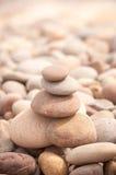 Petit vertical de tour de zen Photographie stock libre de droits