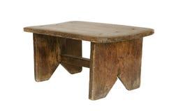 Petit vieux banc en bois d'isolement Photographie stock