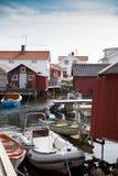 Petit village de pêche en Suède Photos stock