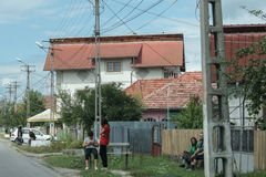 Petit village en Europe de l'Est Photos libres de droits
