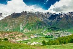 Petit village géorgien photo stock