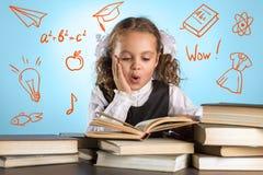 Petite écolière Photo stock