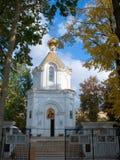 Petite église blanche Photos stock