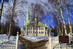 Petite église de village Photographie stock