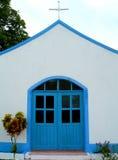Petite église, mission dans la forêt humide photo libre de droits