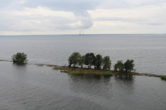 Petite île rocheuse Image libre de droits