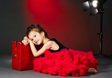 Petite actrice fatiguée Image stock
