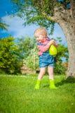 Petite aide sur l'herbe verte dans le jour d'été Photos libres de droits
