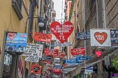 Petite allée à Naples Images stock