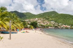 Petite Anse d`Arlet Beach in Martinique Royalty Free Stock Images