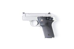 Petite arme à feu automatique d'isolement sur le fond blanc Images stock
