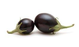 Petite aubergine bonne d'isolement sur le blanc Photo libre de droits