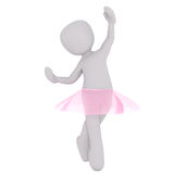 Petite ballerine intensifiant Photo libre de droits