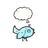 petite bande dessinée bleue d'oiseau Photo libre de droits