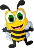 Petite bande dessinée heureuse d'abeille Photos stock