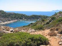 Petite belle baie et les belles plages Images stock