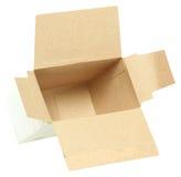 Petite boîte vide à épicerie Image libre de droits
