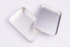 Petite boîte vide en métal Photo stock
