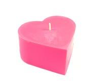 Petite bougie de coeur Photo stock