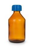 Petite bouteille avec la drogue Photographie stock libre de droits