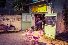 Petite boutique de produit de lavande en Provence Images libres de droits