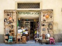 Petite boutique en d'Orcia de San Quirico Photos libres de droits