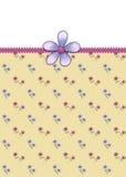 Petite carte de voeux de fleurs Photographie stock libre de droits