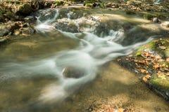 Petite cascade sur hurler la crique courue, Jefferson National Forest, Etats-Unis photo stock