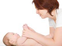 Petite chéri avec la mère Photographie stock
