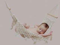 Petite chéri dans l'hamac Photo stock