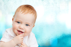Petite chéri de sourire Photos stock