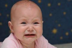 Petite chéri pleurante Photos stock