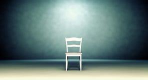Petite chaise dans la chambre vide illustration libre de droits