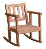 Petite chaise de basculage d'isolement sur le blanc Image stock