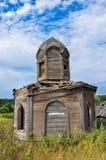 Petite chapelle en bois antique Images libres de droits