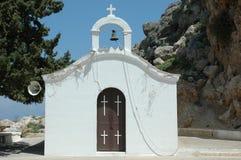 Petite chapelle en Rhodes Photographie stock