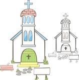 Petite chapelle mignonne Image libre de droits