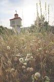 Petite chapelle par la route Photo stock