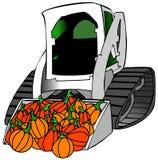 Petite charge de tracteur des potirons Photos libres de droits
