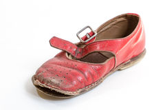 Petite chaussure rouge Images stock